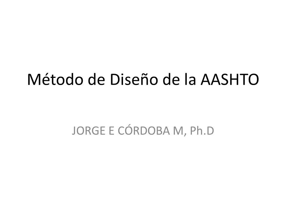 Método de Diseño de la AASHTO JORGE E CÓRDOBA M, Ph.D
