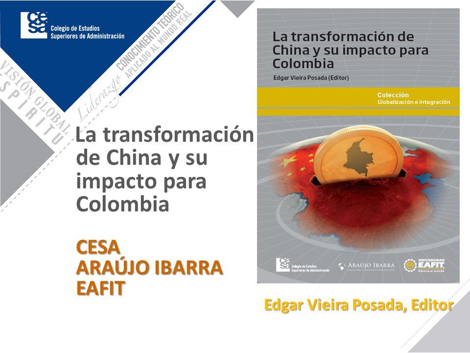 CESA ARAÚJO IBARRA EAFIT La transformación de China y su impacto para Colombia CESA ARAÚJO IBARRA EAFIT Edgar Vieira Posada, Editor