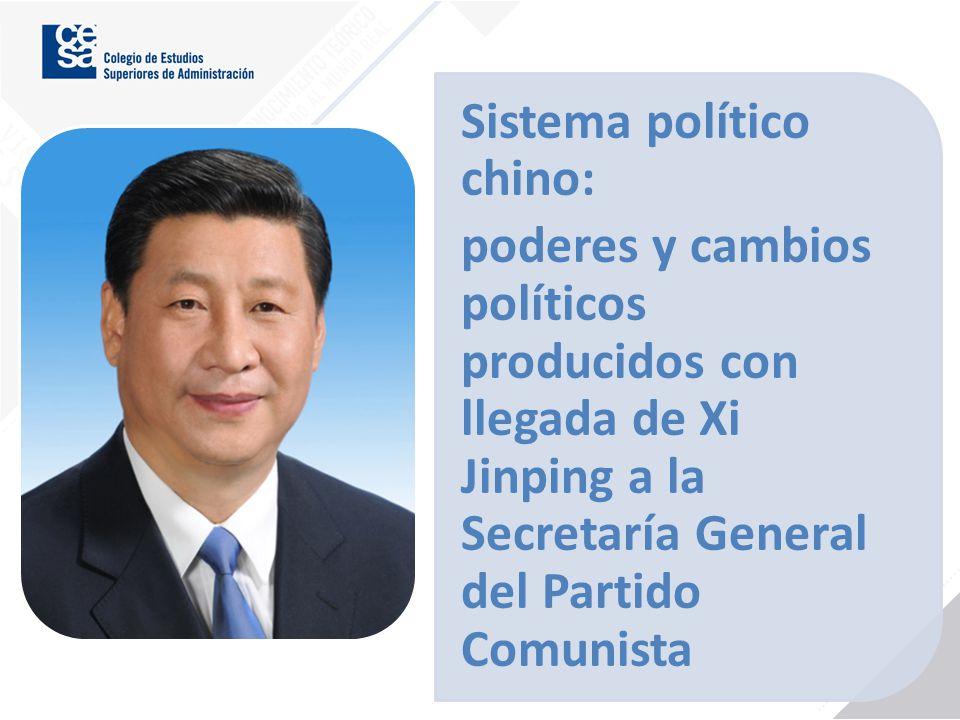 Sistema político chino: poderes y cambios políticos producidos con llegada de Xi Jinping a la Secretaría General del Partido Comunista