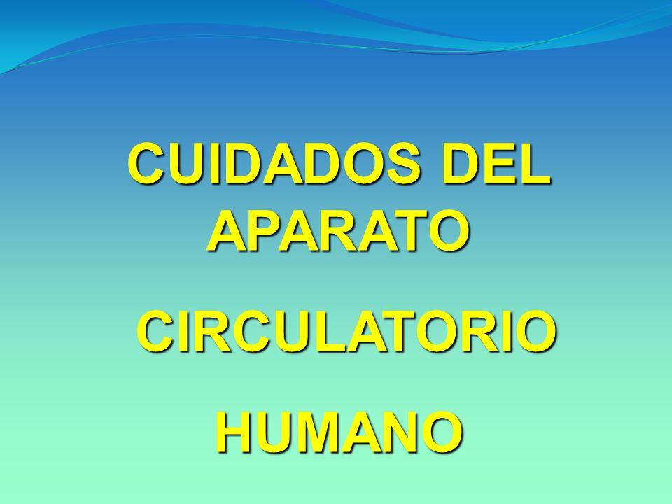 CUIDADOS DEL APARATO CIRCULATORIO CIRCULATORIOHUMANO