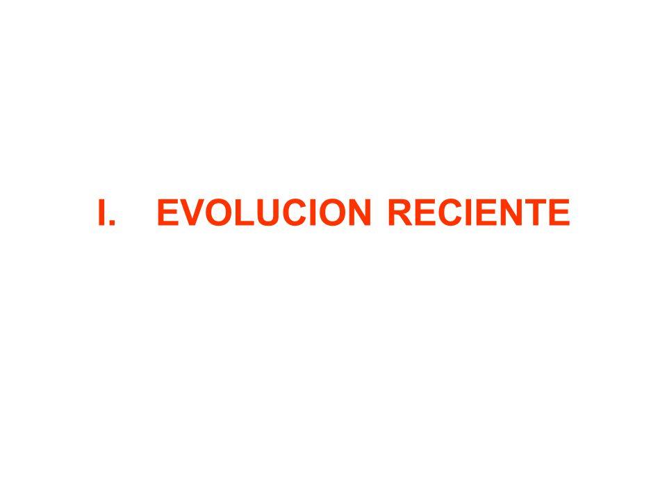 I.EVOLUCION RECIENTE