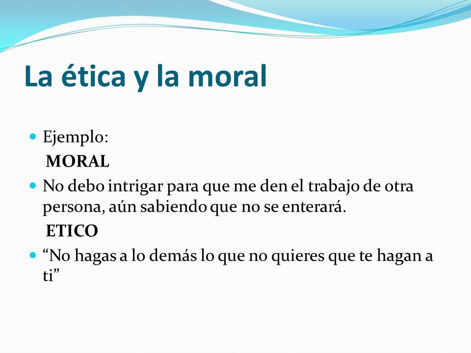 La ética y la moral Más detalles: La ética 1.- La ética es una rama de la filosofía.