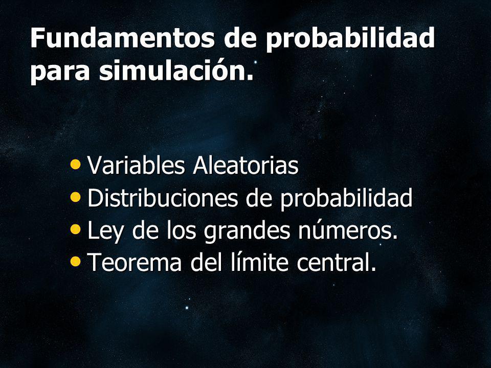 Variables Aleatorias Variables Aleatorias Distribuciones de probabilidad Distribuciones de probabilidad Ley de los grandes números. Ley de los grandes