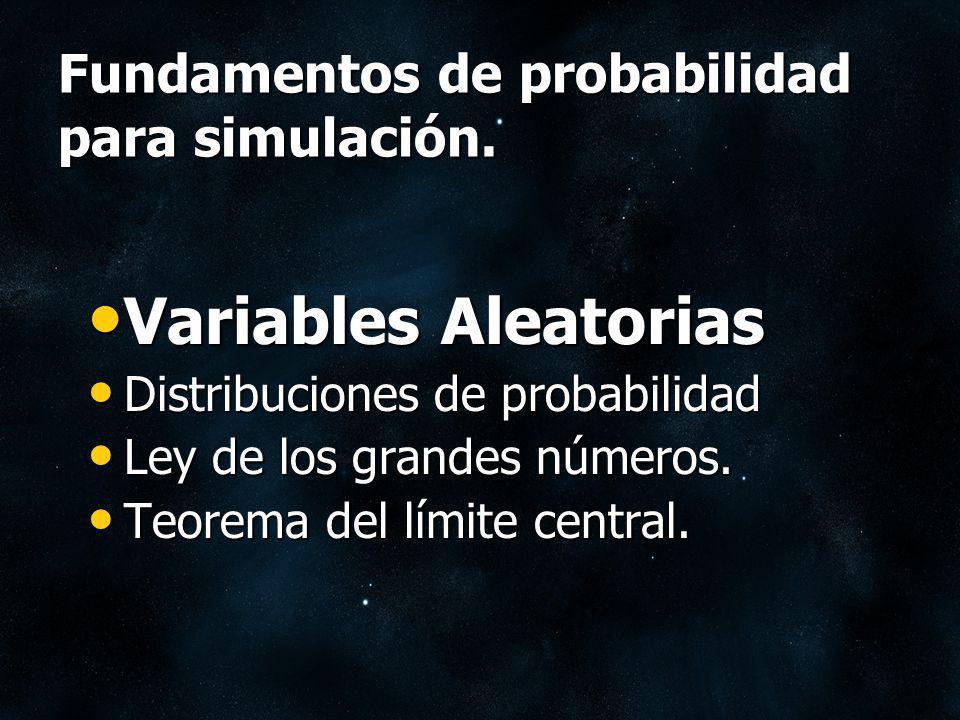Variables Aleatorias Una Variable aleatoria X es una función cuyos valores son números reales y dependen del azar.