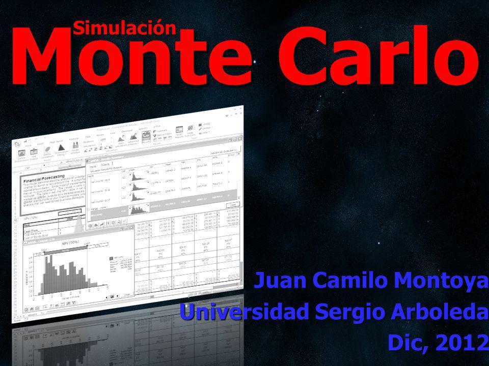 Simulación Monte Carlo Juan Camilo Montoya Universidad Sergio Arboleda Dic, 2012