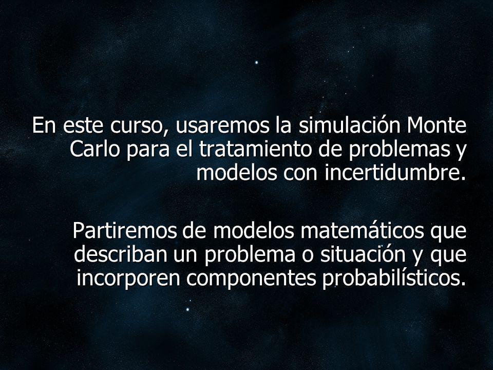 Hay 2 componentes de aleatoriedad en un modelo: efecto aleatorio propio del sistema bajo análisis.
