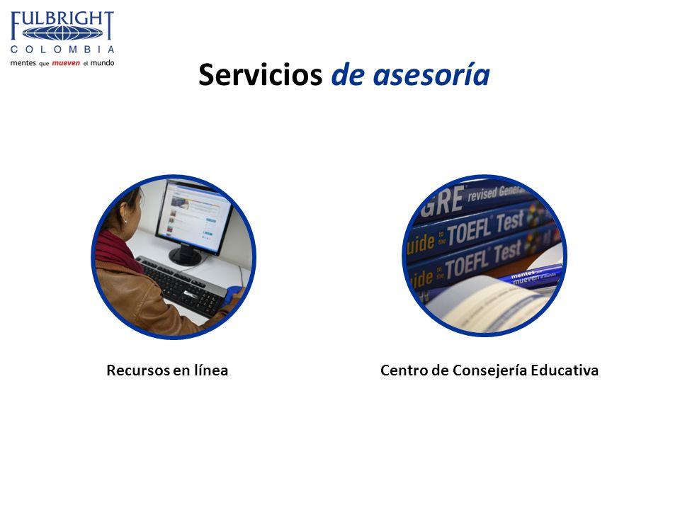 Servicios de asesoría Recursos en líneaCentro de Consejería Educativa