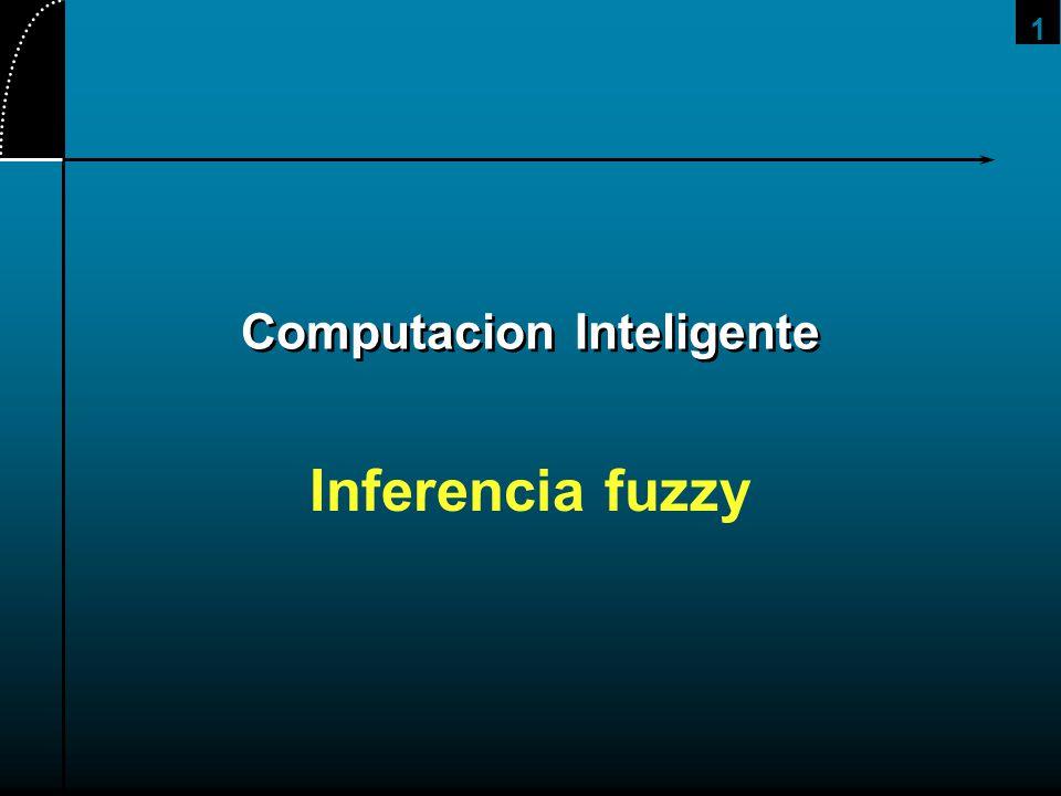 1 Computacion Inteligente Inferencia fuzzy