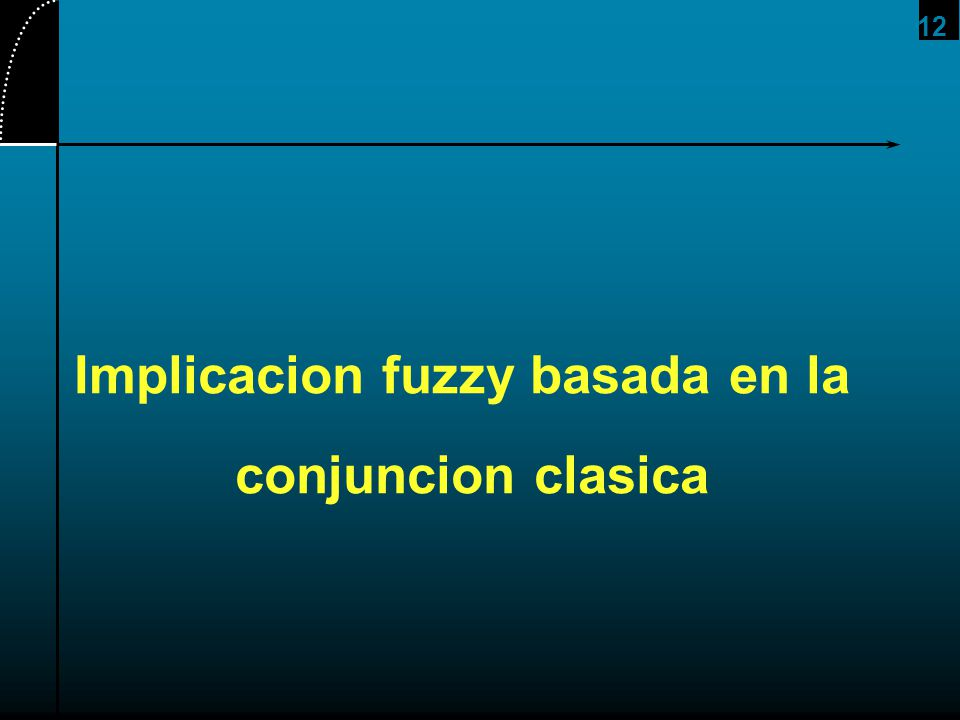 12 Implicacion fuzzy basada en la conjuncion clasica