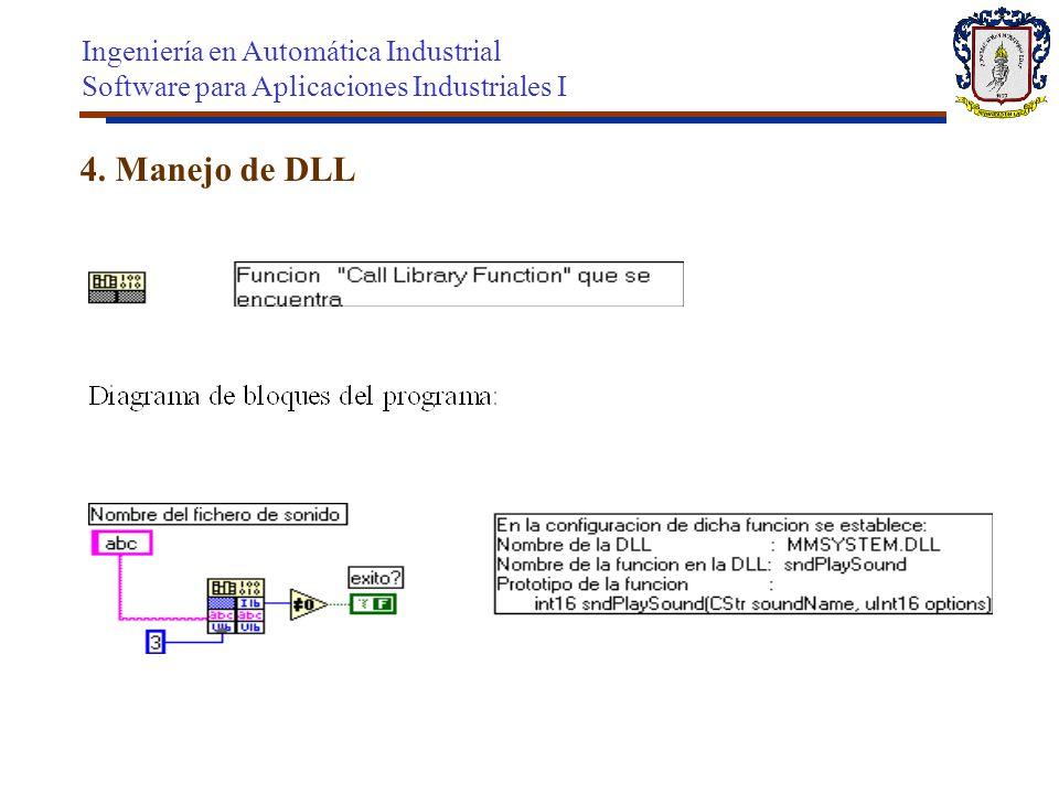 4. Manejo de DLL Ingeniería en Automática Industrial Software para Aplicaciones Industriales I