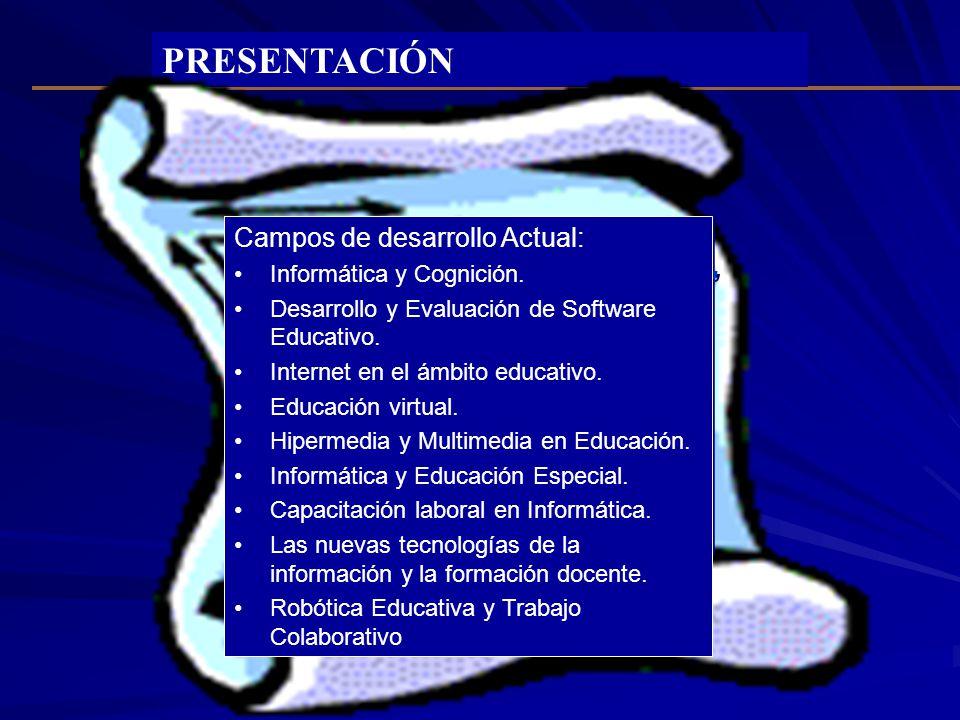 PRESENTACIÓN Es una línea de trabajo multidisciplinario de las áreas de educación, psicología, ingeniería y diseño cuyo objetivo es promover y desarro