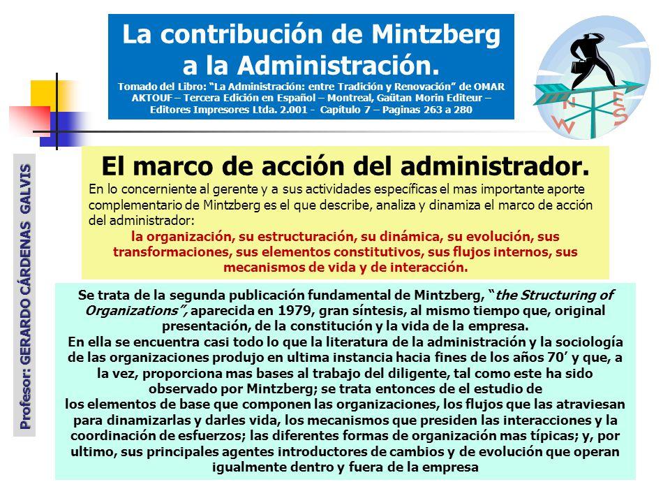 El marco de acción del administrador.