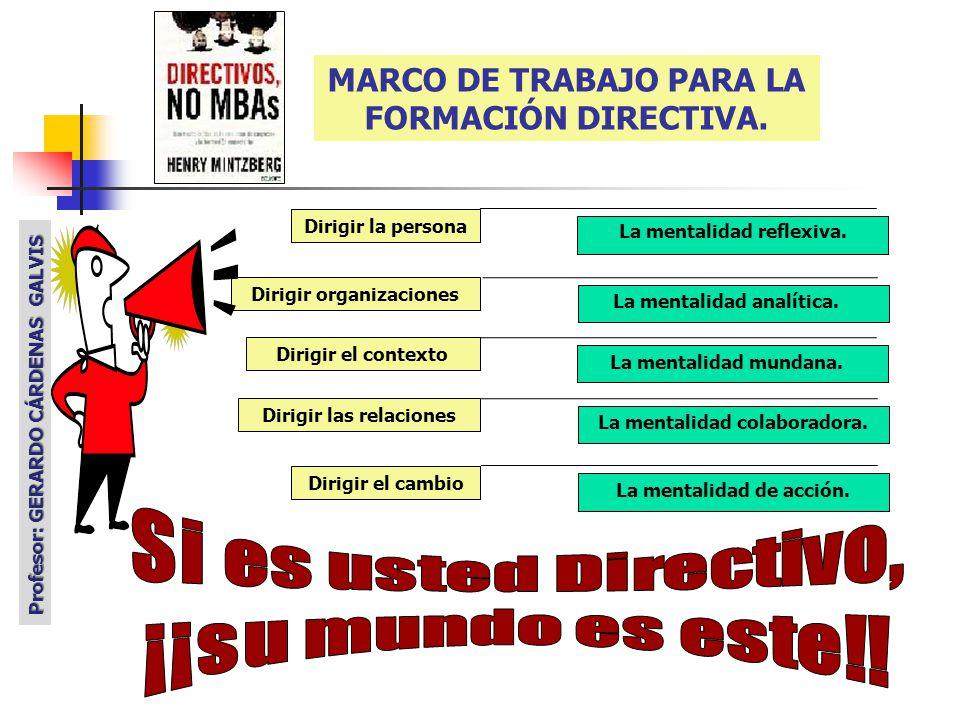 MARCO DE TRABAJO PARA LA FORMACIÓN DIRECTIVA.