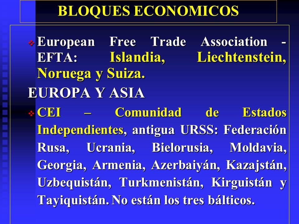 BLOQUES ECONOMICOS Ingresarán: Chipre, Eslovenia, Estonia, Hungría, Polonia, República Checa, Malta, Letonia y Lituania; así como Eslovaquia, Rumania y Bulgaria.
