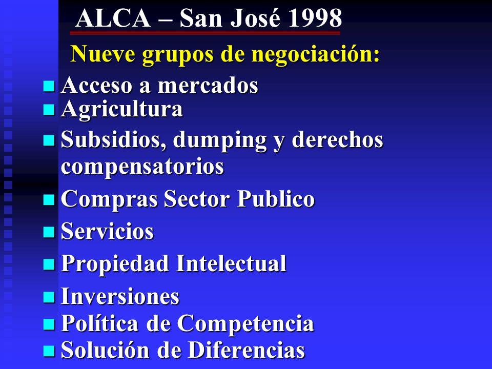 AREA DE LIBRE COMERCIO DE LAS AMERICAS - 2005 Precedente: Iniciativa de las Américas Precedente: Iniciativa de las Américas Concretó Presidente Clinton en Cumbre de las Américas (dicbre 1994) en Miami ante 33 países del continente, (excluida Cuba).