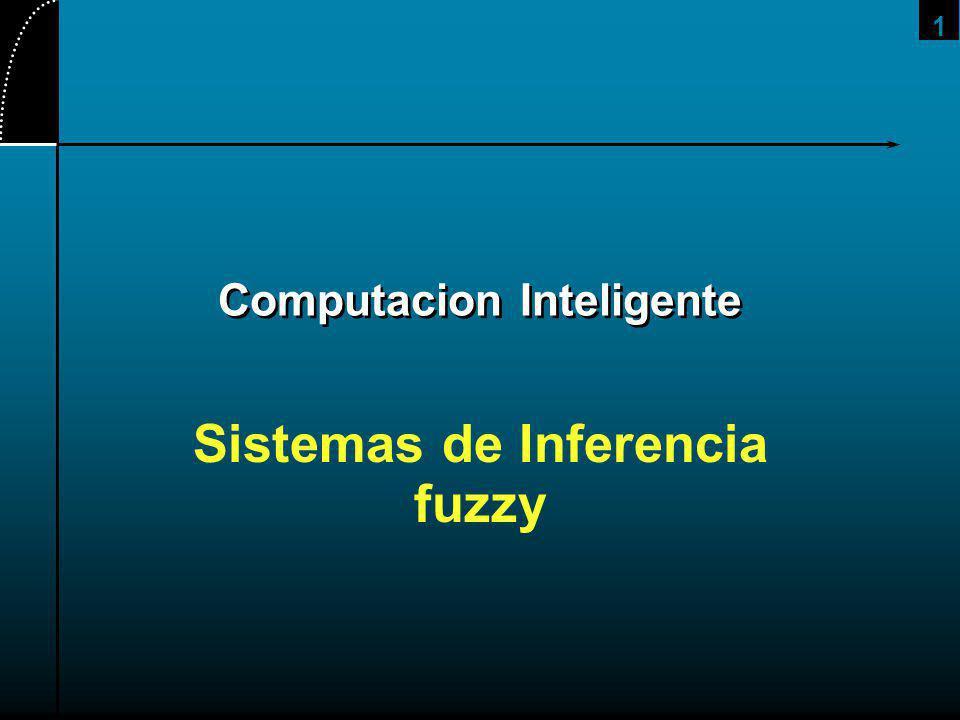 1 Computacion Inteligente Sistemas de Inferencia fuzzy