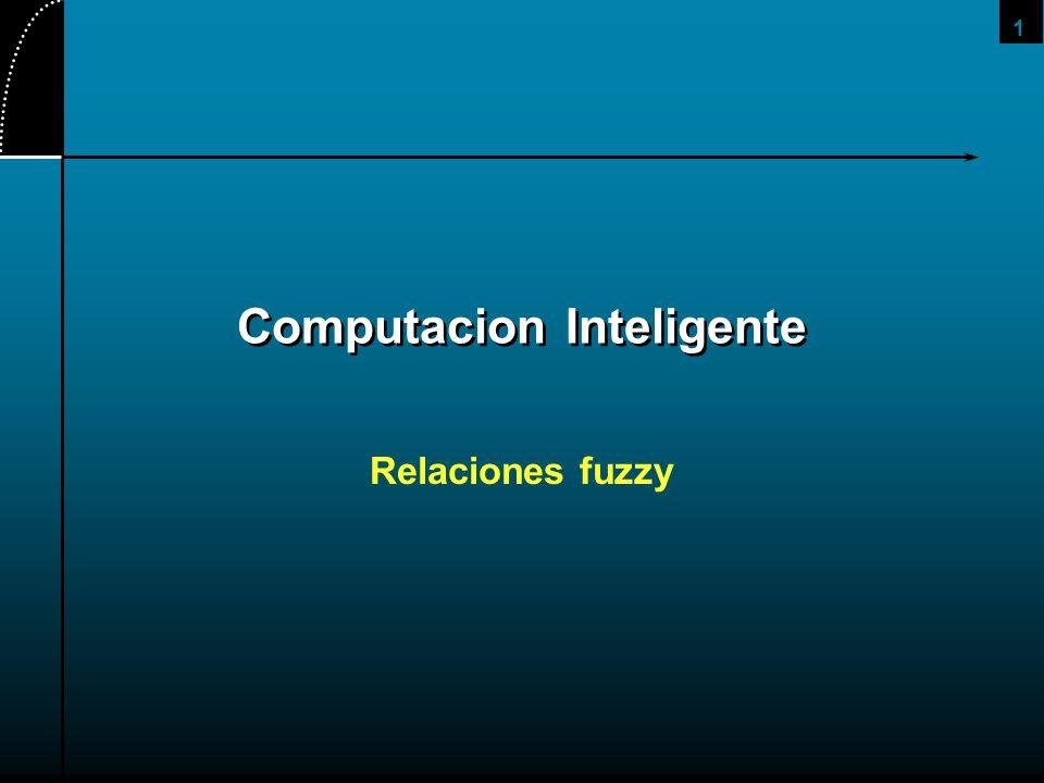 32 La relacion con expresion de conocimiento La relación fuzzy es principalmente útil para expresar conocimiento: Asumamos que el conjunto A es un conjunto de eventos y R una regla Entonces por la regla R, la posibilidad de ocurrencia del evento c luego de ocurrir el evento a es de 0.8, en el ejemplo