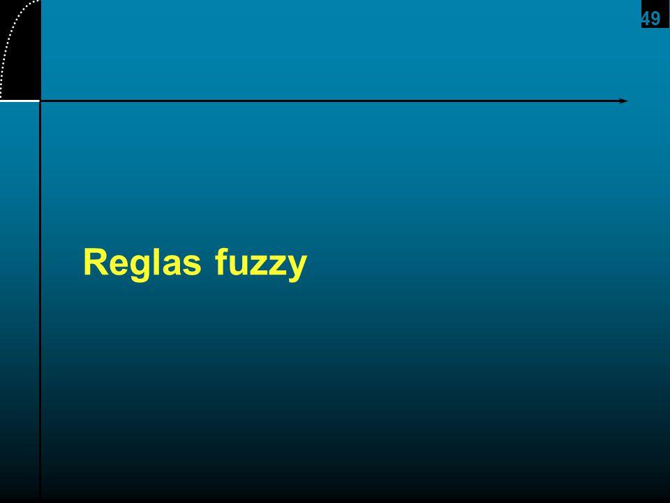 49 Reglas fuzzy