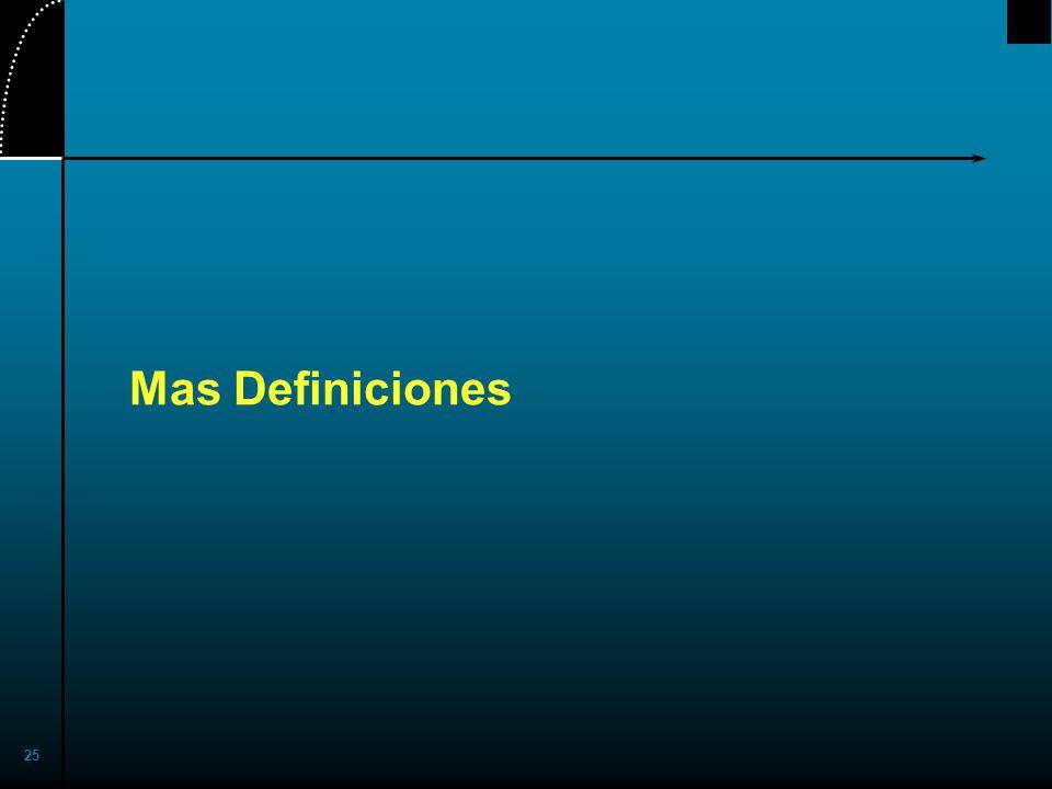 25 Mas Definiciones