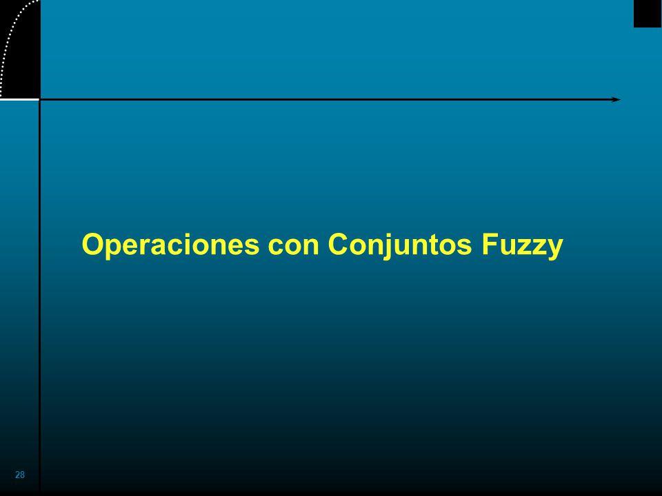 28 Operaciones con Conjuntos Fuzzy