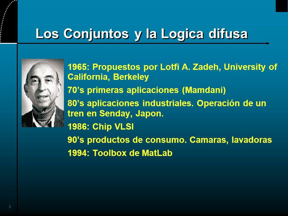 3 Los Conjuntos y la Logica difusa 1965: Propuestos por Lotfi A.
