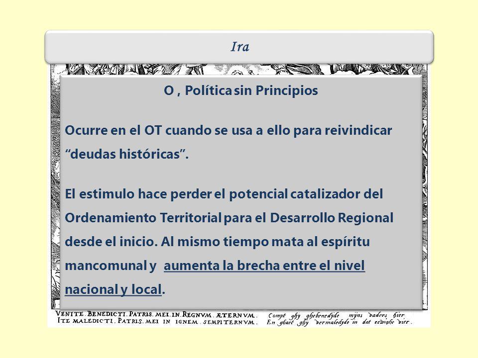 Ira O, Política sin Principios Ocurre en el OT cuando se usa a ello para reivindicar deudas históricas.