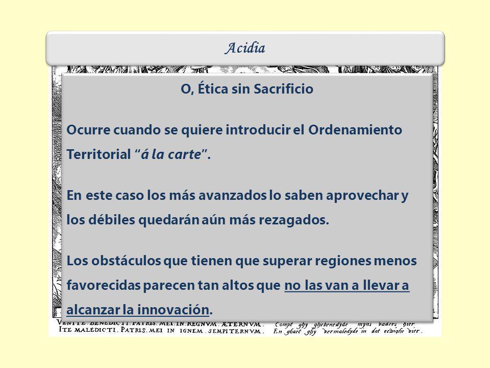 Acidia O, Ética sin Sacrificio Ocurre cuando se quiere introducir el Ordenamiento Territorial á la carte.