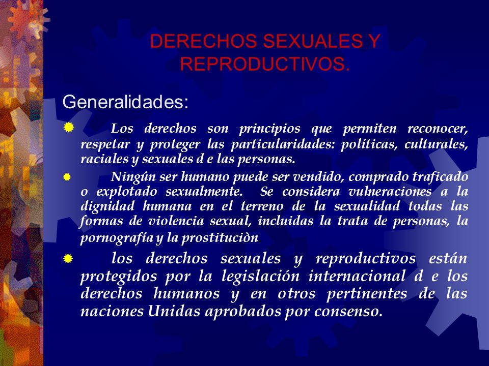 DERECHOS SEXUALES Y REPRODUCTIVOS.