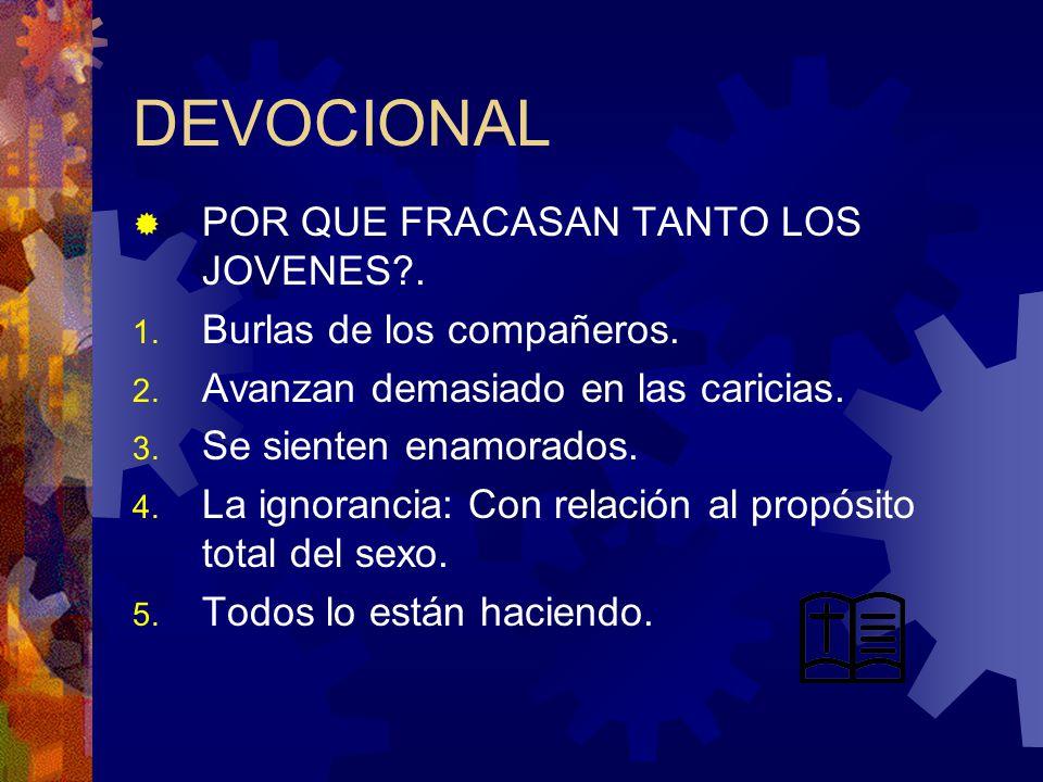 DEVOCIONAL POR QUE FRACASAN TANTO LOS JOVENES?.1.