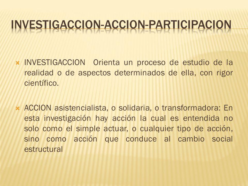 PARTICIPATIVA: Es una investigación-acción realizada participativamente.