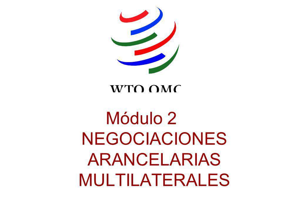Módulo 2 NEGOCIACIONES ARANCELARIAS MULTILATERALES