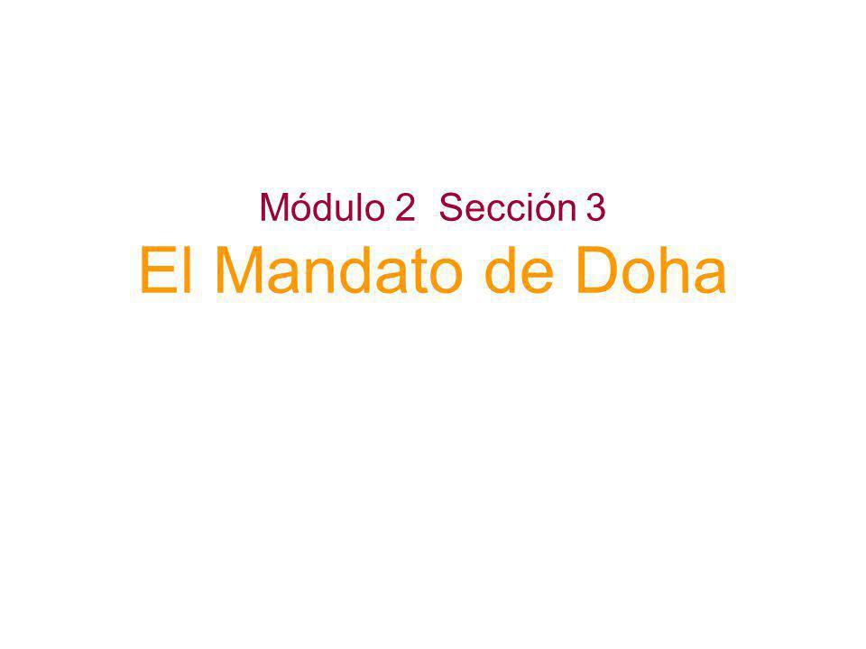 Módulo 2 Sección 3 El Mandato de Doha