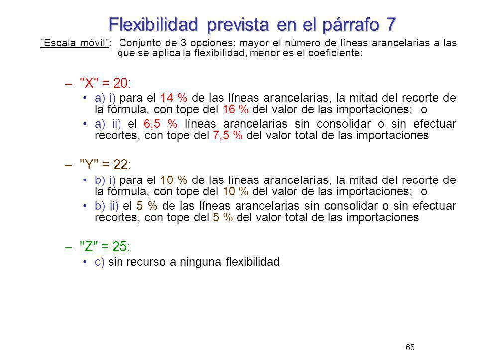 65 Flexibilidad prevista en el párrafo 7