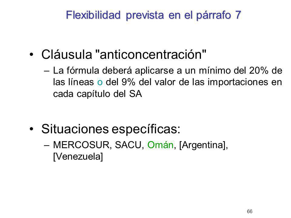 66 Flexibilidad prevista en el párrafo 7 Cláusula