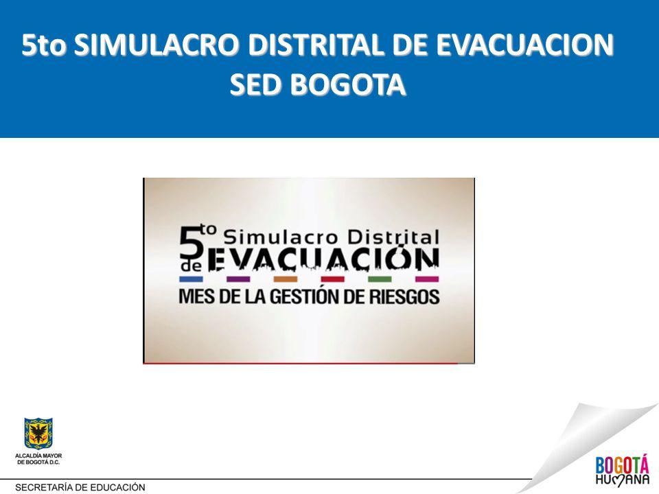 5to SIMULACRO DISTRITAL DE EVACUACION SED BOGOTA