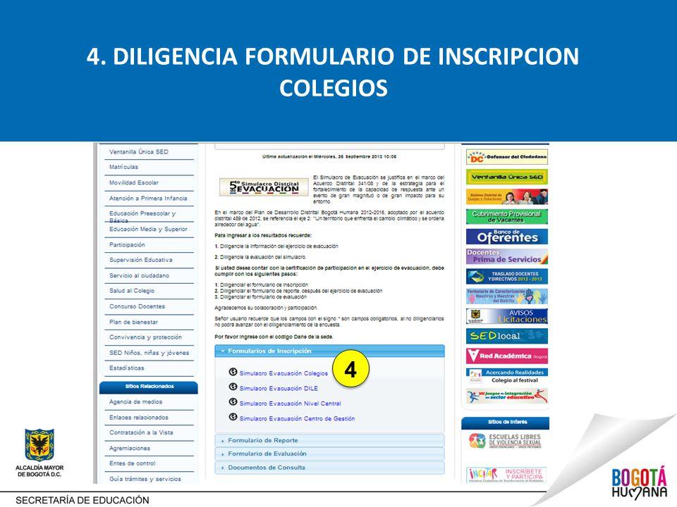 4. DILIGENCIA FORMULARIO DE INSCRIPCION COLEGIOS 4