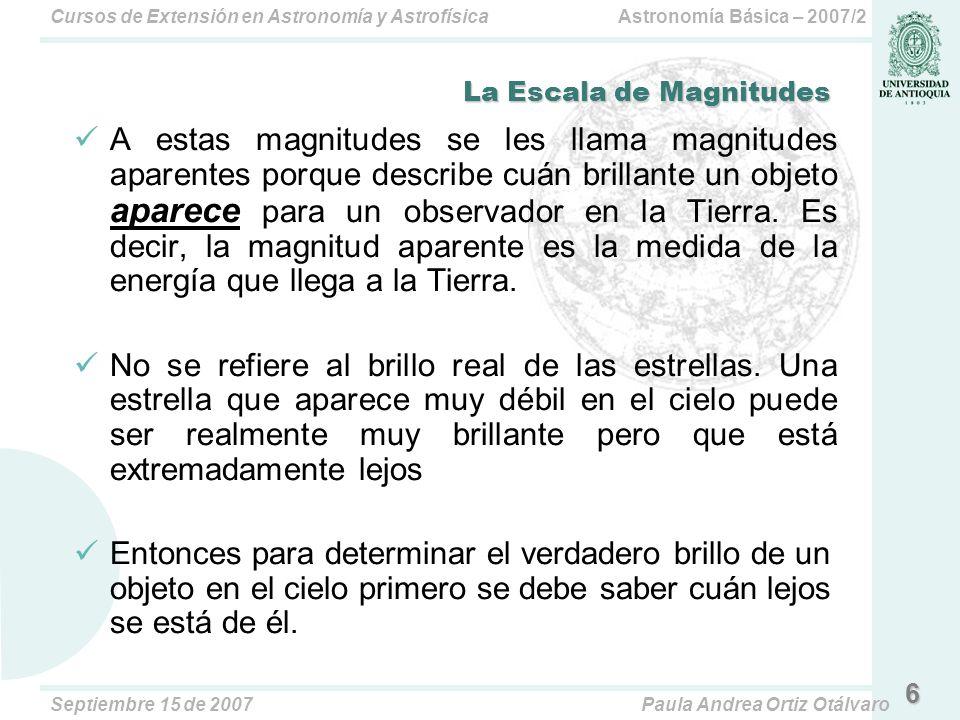 Astronomía Básica – 2007/2Cursos de Extensión en Astronomía y Astrofísica Septiembre 15 de 2007Paula Andrea Ortiz Otálvaro (B-V) (U-B) Bellatrix: -0.23 -0.87 Elnath:-0.13-0.49 Megrez:+0.08+0.07 37