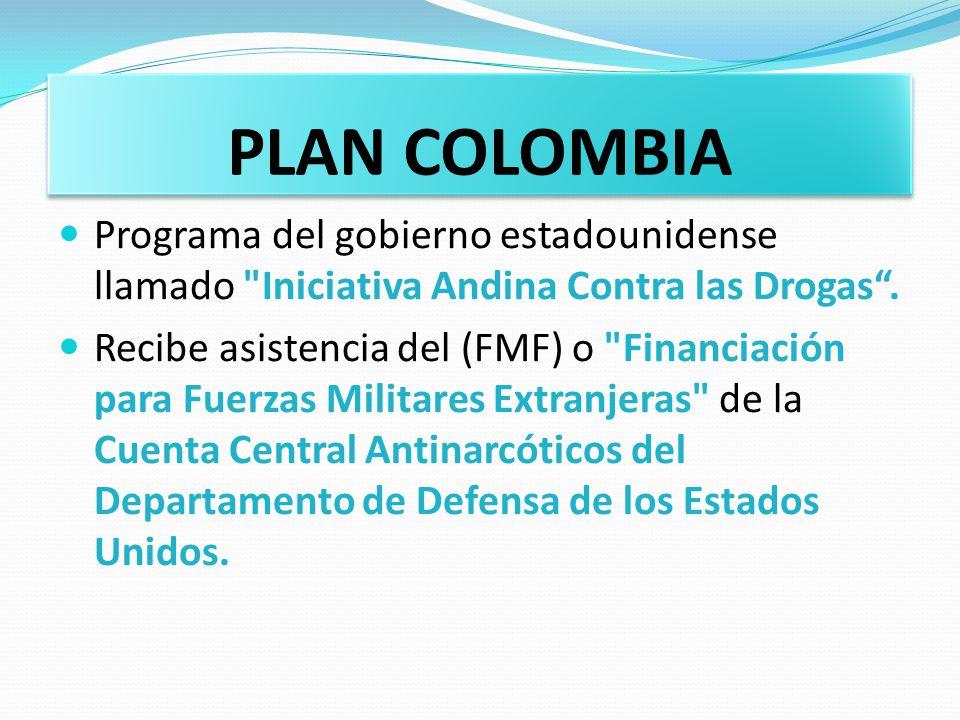 PLAN COLOMBIA Programa del gobierno estadounidense llamado
