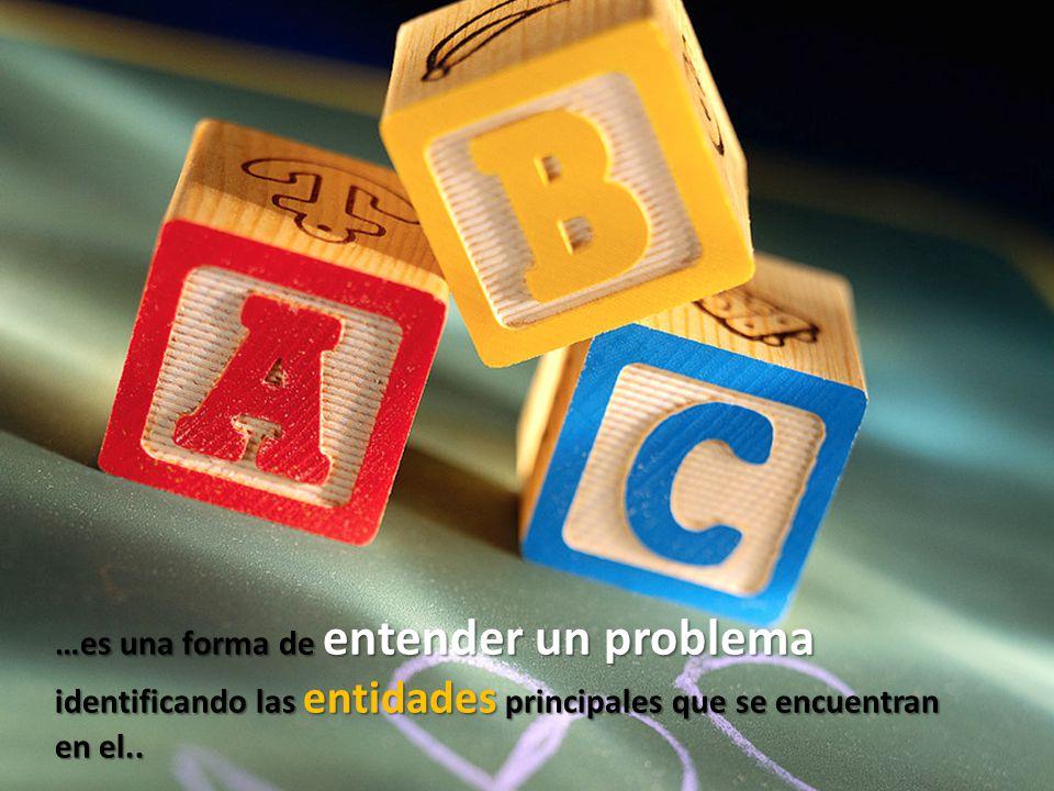 …es una forma de entender un problema identificando las entidades principales que se encuentran en el..