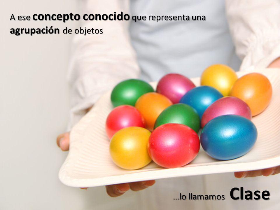 A ese concepto conocido que representa una agrupación de objetos …lo llamamos Clase