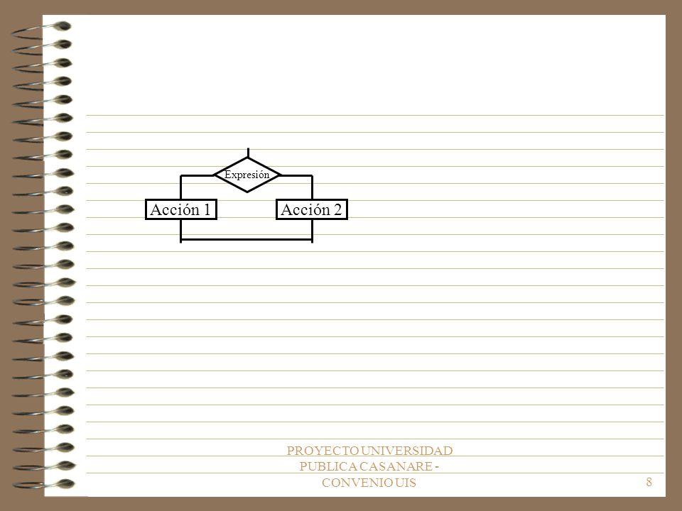 PROYECTO UNIVERSIDAD PUBLICA CASANARE - CONVENIO UIS8 Acción 2 Expresión Acción 1