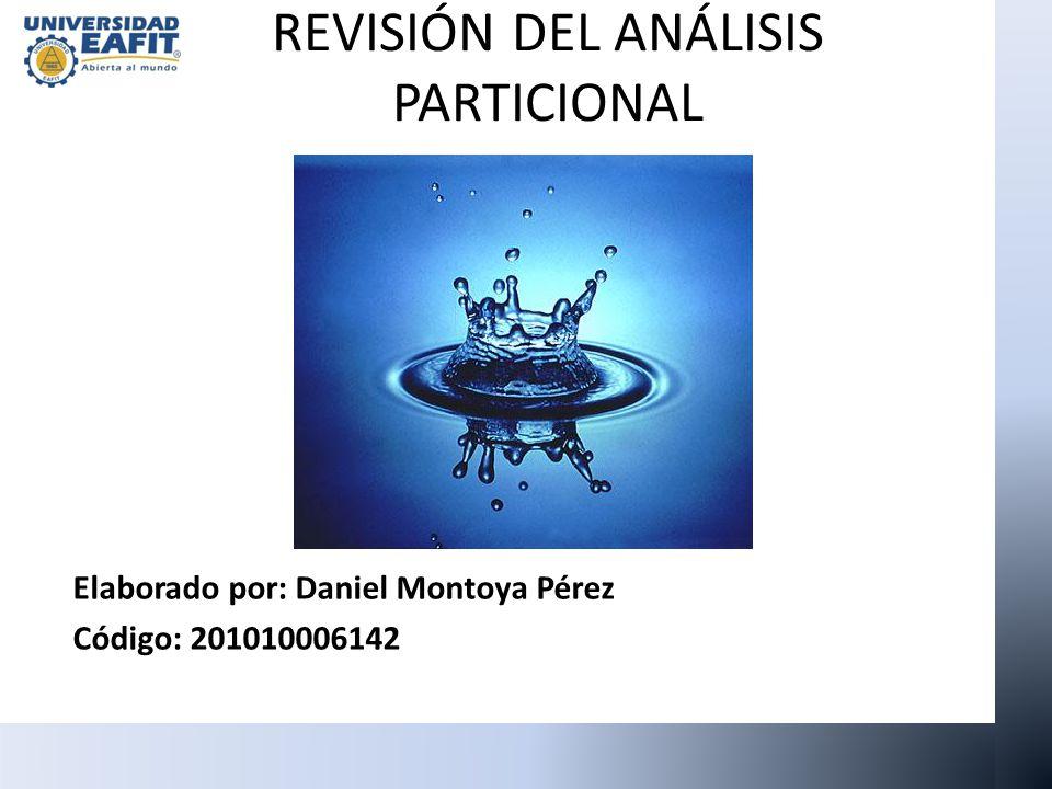REVISIÓN DEL ANÁLISIS PARTICIONAL Elaborado por: Daniel Montoya Pérez Código: 201010006142