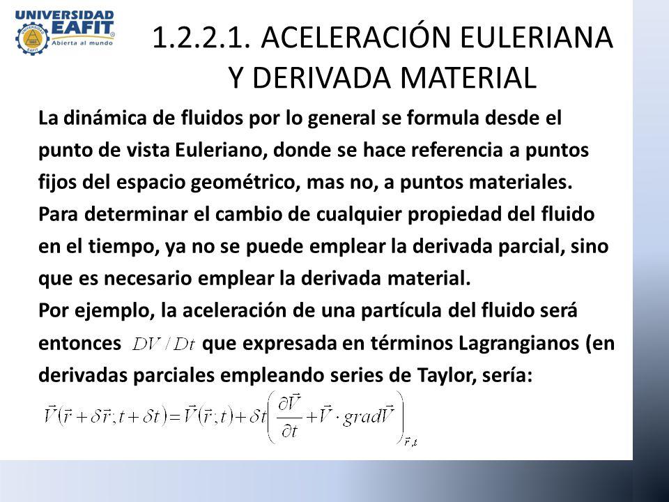 La dinámica de fluidos por lo general se formula desde el punto de vista Euleriano, donde se hace referencia a puntos fijos del espacio geométrico, ma