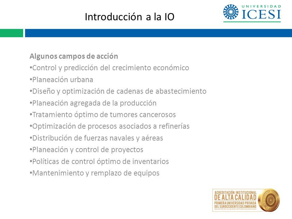 Introducción a la IO IBMIntegración de una red nacional de inventario de refacciones para mejorar el apoyo al servicio.