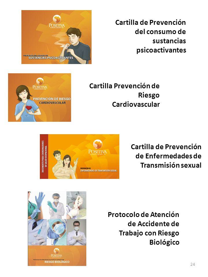 Cartilla de Prevención del consumo de sustancias psicoactivantes 24 Cartilla Prevención de Riesgo Cardiovascular Cartilla de Prevención de Enfermedade