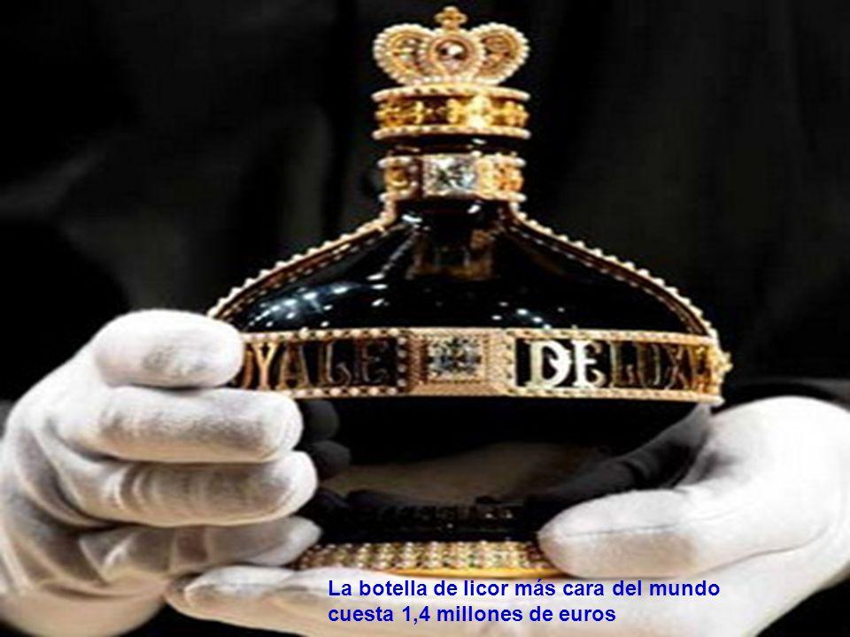La botella de licor más cara del mundo cuesta 1,4 millones de euros