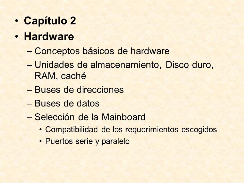–Unidades de entrada Teclado Mouse Floppy Disk (3 ½, zip) Unidad de disco óptico Lectora de cinta, lectora de código de barras Otros –Unidades de salida Monitor Impresora.