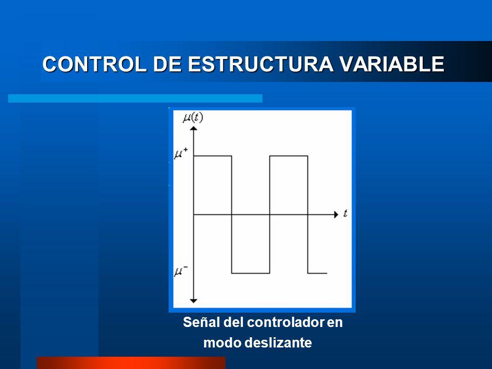 Señal del controlador en modo deslizante CONTROL DE ESTRUCTURA VARIABLE
