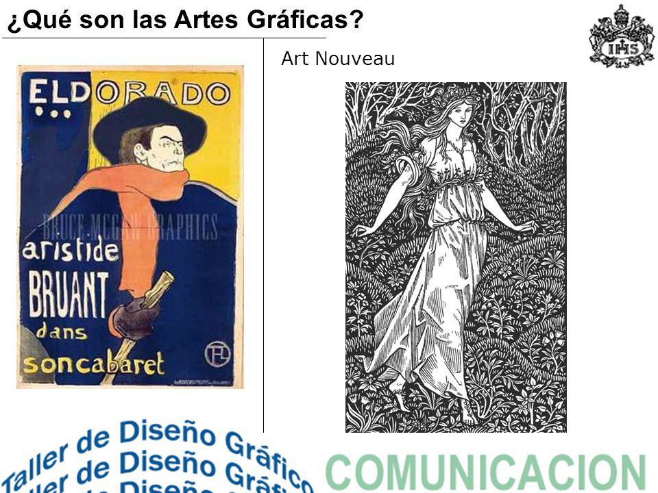Art Nouveau ¿Qué son las Artes Gráficas?