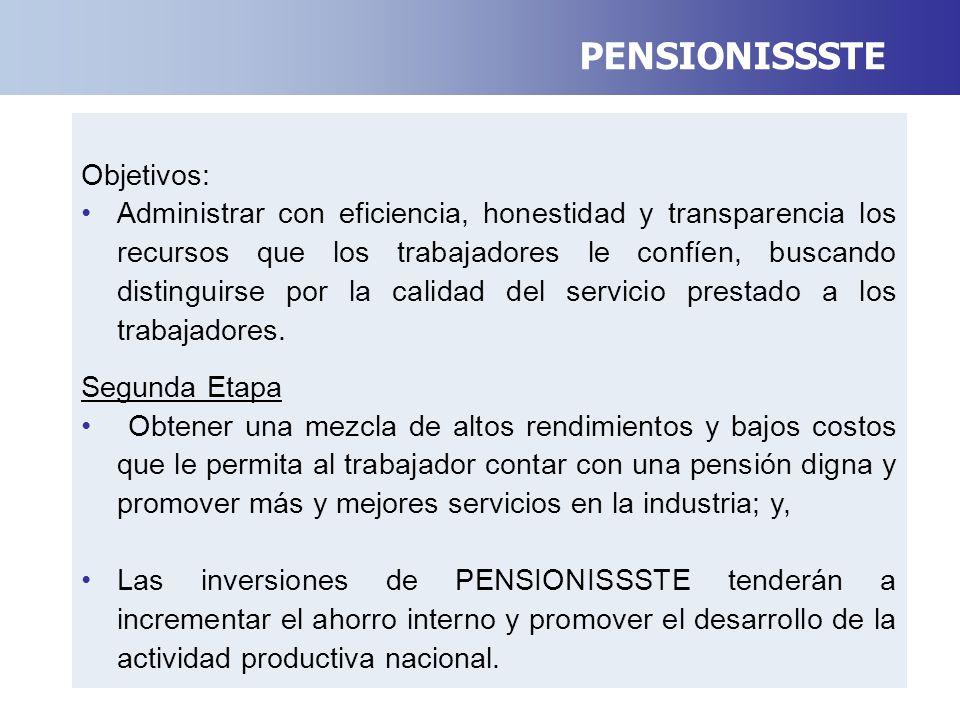 Objetivos: Administrar con eficiencia, honestidad y transparencia los recursos que los trabajadores le confíen, buscando distinguirse por la calidad del servicio prestado a los trabajadores.
